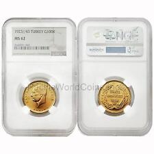Turkey 1923/43 100 Kurush Gold NGC MS62