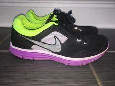 Nike Lunarfly 4  Black/Purple/ Neon Green/yellow Women's size 10