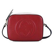 2e936a639e63 NWT Authentic Gucci Soho Disco Red Leather Cross Body Bag Retail Price  $1,190