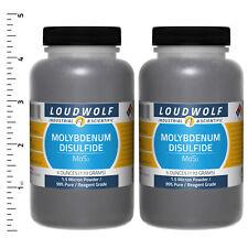 Molybdenum Disulfide 12 Oz Total (2 Bottles) Reagent Grade 1.5 Micron Powder
