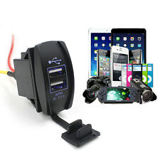 12V 24V Car Auto Boat Accessory Dual USB Charger Power Adapter LED Outlet Tide
