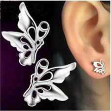 1 Paar weiblich Sterlingsilber Ohrring Schmetterling Form Ohrschmuck Ohrstecker