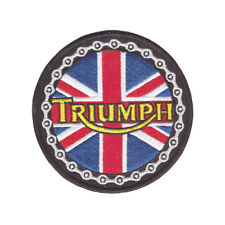 Triumph Patch Union Jack Boneville England Biker Kutte MC Vintage Old School