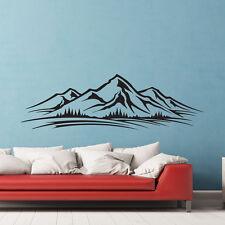 Mountains Trees Skyline Wall Vinyl Sticker Decal Livingroom Children Mural Art G