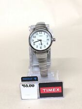 Timex Ladies Easy Reader Silver-Tone Stainless Steel Expansion Band Watch #2H371
