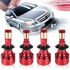 Hi/Lo H7+H7 LED Headlight Bulbs for Volkswagen Jetta 2005-2018 Passat 2001-2016