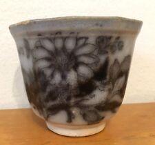 """Antique Black Mulberry Tea Bowl Cup """"Flora"""" Buy It Now"""