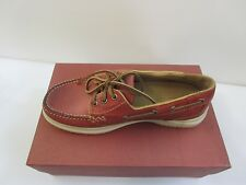 ACORN  MEN'S LEATHER CASUAL CAMP MOC SHOES NEW IN BOX  SZ 8M