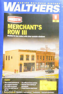 Walthers N #933-3851 Merchant's Row III (Plastic Building Kit) N Scale / 1:160th