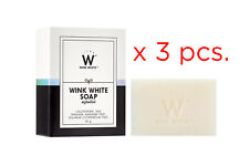 80g x 3 WINK WHITE Original Gluta Bar Soap Face Body Whitening Brightening Skin