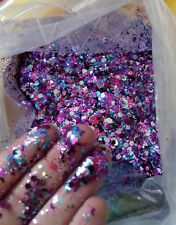 Chunky Glitter mixes with moons, 500g bags, Face/Body,nails, Festival, clubbing