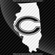 Chicago Bears Illinois IL State Pride Decal Sticker - TONS OF OPTIONS