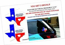 TEXAS Decals TEXAS STRONG 65% SUPPORT RED CROSS & HURRICANE HARVEY RELIEF EFFORT