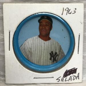 1963 Salada Baseball Coin Elston Howard Yankees All Star #45