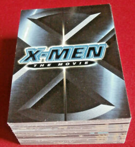 X-MEN THE MOVIE - COMPLETE BASE SET (72 Cards) - Topps 2000