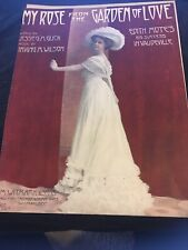 Vintage Sheet Music My Rose From the Garden of Love 1910 Glick/Wilson