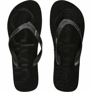 CALVIN KLEIN Men's DABNEY JELLY Black Flip Flops Beach Sandals, size UK 12