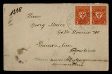 DR WHO 1922 GERMANY AMBACH PAIR TO ARGENTINA  g41138