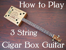 Learn 3 string Cigar Box Guitar & Blues & Slide / Resonator Lessons DVD