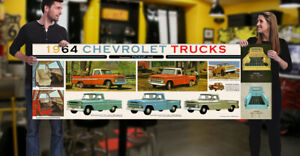 1964 Chevrolet Dealer Garage Banner Truck Pickup Chevrolet 4x4 step side fleet