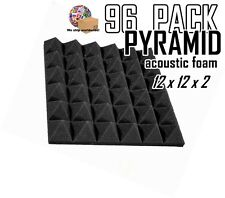 """PYRAMID  96 pack Acoustic FOAM wall tiles Studios & Soundproofing 12x12x2"""""""