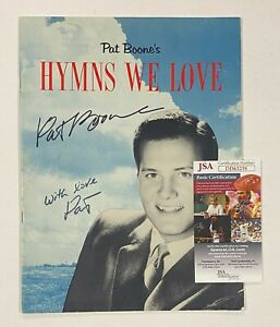 """PAT BOONE Signed Autograph Auto """"Hymns We Love"""" Sheet Music Songbook JSA"""