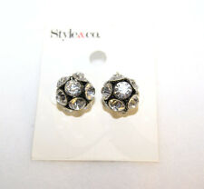 Style & Co. Black White Ball Stud Earrings