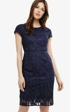 New Phase Eight Size 8 French Navy Lace Anna Leah Dress RRP£150