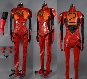 Neon Genesis Evangelion EVA Soryu Asuka Langley Battle Suit Cosplay