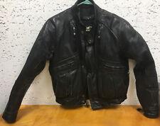 Mens Black Leather Harley Davidson Jacket Coat 38 Reg