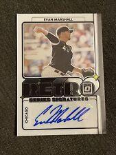 Evan Marshall 2021 Donruss Optic Retro Auto Autograph #EM White Sox M7