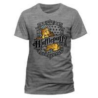 Official Licensed Harry Potter Loyal Hufflepuff Grey T-Shirt