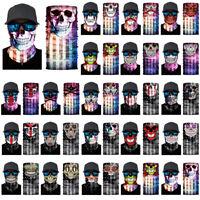 3D Headband Skull Ghost Cycling Scarf Neck Warmer Face Mask Bandana Balaclava
