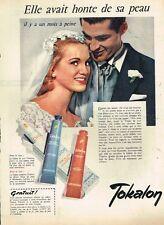 F- Publicité Advertising 1958 Cosmétique crème bronzante Tokalon