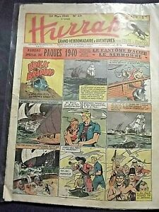 "Hebdomadaire  "" HURRAH !  ""  No  251  du 24 Mars  1940  ( 6eme ANNEE )"