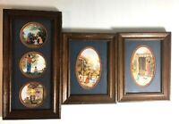 Beth Cummings Folk Art Framed Print Lot Home Life Primitive Country Decor