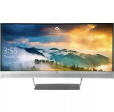 HP S340c 34  Curved LCD Monitor - 3440 x 1440 UW-QHD Display - PLEASE READ