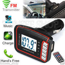 LCD Car Wireless FM Transmiter Modulator MP3 MP4 Player  SD/ MMC Karte w/ Remote
