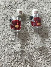 Yankee Candle Glass Stemmed. Poppy Votive Holders , New