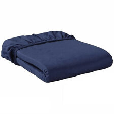 2 Meradiso Double Bed Sheets - Pack of 2 ,Navy (Dark Blue) Fitted Sheet - NEW