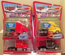 DISNEY PIXAR Cars DELUXE SIZE NEW* RPM Semi, Eric Roadales, No-Stall, & Mac Semi