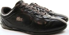 Lacoste Men Leather Athletic Shoes Brown Size 10 Euro 42