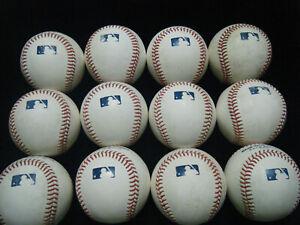 12 MLB Manfred white baseballs 2021 BP