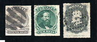 Brazil - Sc# 64 - 66 Used / Rouletted  /    Lot 1020080