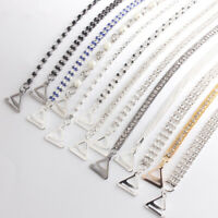Rhinestone Bra Shoulder Lingerie Accessories Silver Plated Bra Straps Metallic