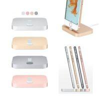 Aluminum Lightning Dock Sync Charging Cradle Station For iPhone 5 SE 6 7 8 Plus
