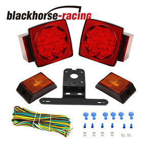 Rear LED Submersible Trailer Tail Lights Kit Boat Marker Truck Waterproof