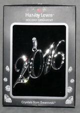 "Christmas Ornament Metal Swarovski Chyrstal 2016 Rhinestone Silver 3.5"""