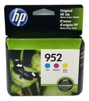 NEW Original HP 952 Cyan/Magenta/Yellow 3-pack Ink Jet