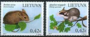 Lithuania 2017 Fauna, Wild Animals, Nature Protection, Rodents MNH**